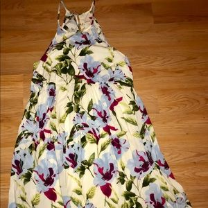 Entro halter tank floral dress hippie flowy Large